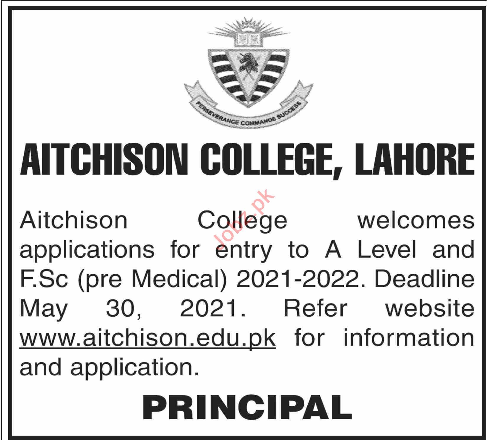 Aitchison College Lahore Jobs 2021 Teacher & Head of Faculty