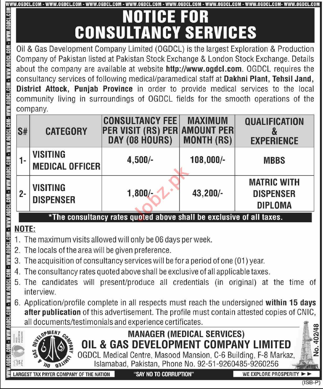 OGDCL Dakhni Plant Tehsil Jand District Attock Jobs 2021
