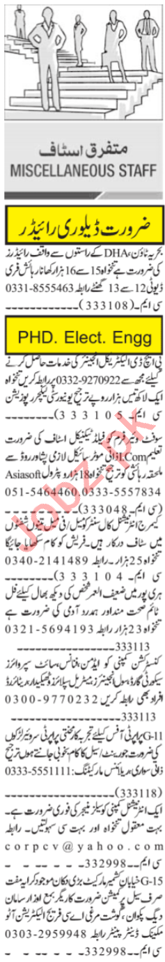 Office Assistant & Civil Supervisor Jobs 2021 in Islamabad