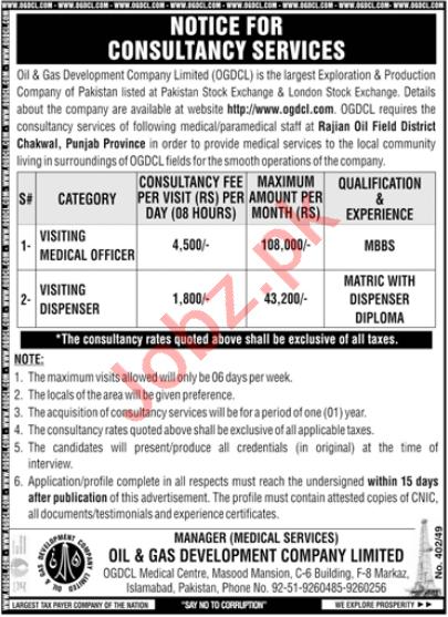 Oil & Gas Development Company OGDCL Chakwal Jobs 2021