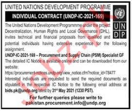 Procurement & Supply Chain Specialist Jobs 2021 in UNDP