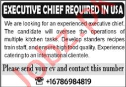 Executive Chef Jobs 2021 in USA