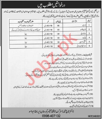 DHQ Hospital Kohistan Upper Jobs 2021 Driver & Naib Qasid
