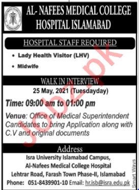 Al Nafees Medical College & Hospital Islamabad Jobs 2021