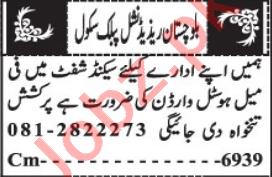 Balochistan Residential Public School BRPS Quetta Jobs 2021