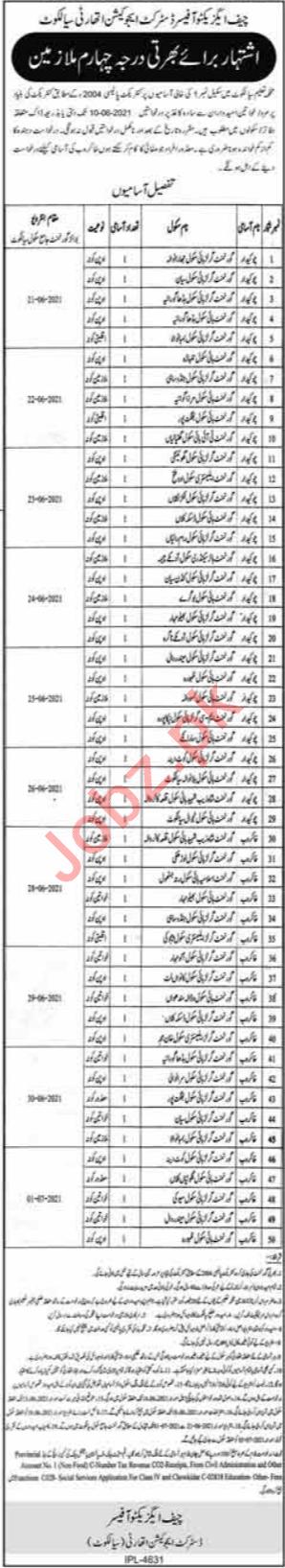 District Education Authority DEA Sialkot Jobs 2021