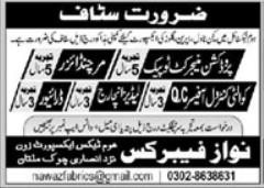 Nawaz Fabrics Jobs 2021 in Multan