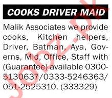 Malik Associates Jobs 2021 for Aya & Batman