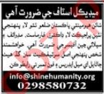 SHINE Humanity Pakistan Gharo Clinic Jobs 2021