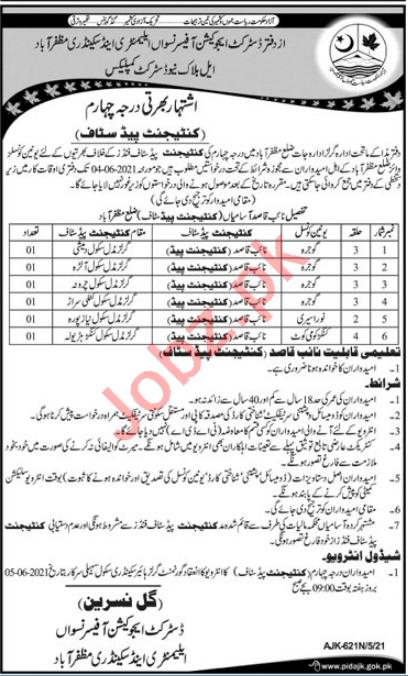 Elementary & Secondary Education Department Naib Qasid Jobs