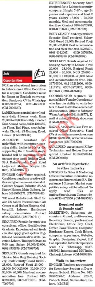 The News Sunday Lahore Classified Ads 30 May 2021