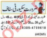 Nawaiwaqt Sunday Classified Ads 30 May 2021 Security Staff