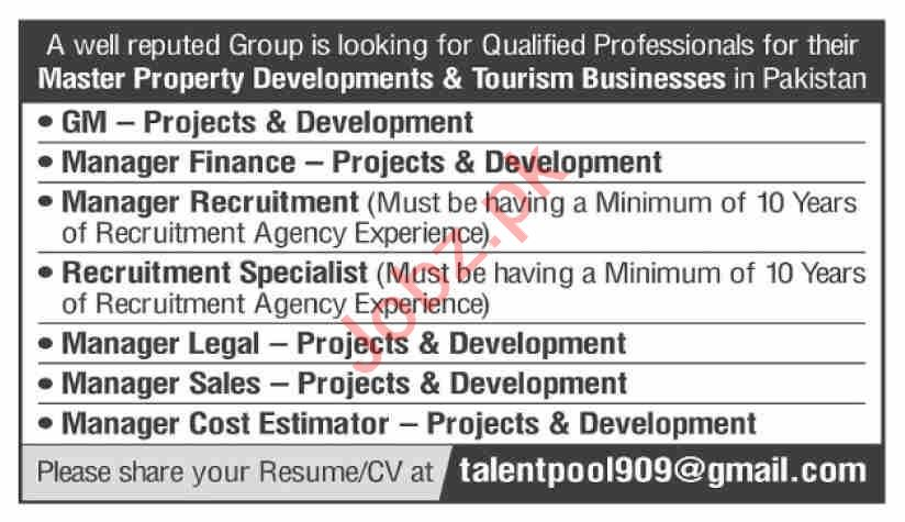 Manager Finance & Manager Recruitment Jobs 2021