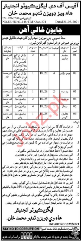 Highways Division Tando Muhammad Khan Jobs 2021