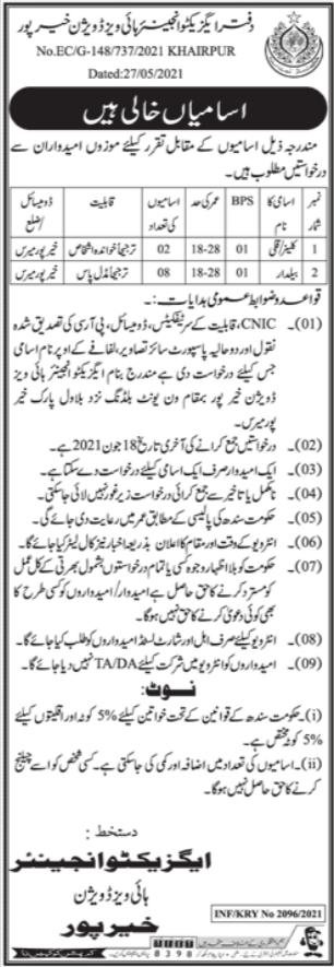 Beldar & Cleaner Jobs in Public Health Engineering Division