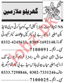 House Staff Jobs 2021 in Lahore