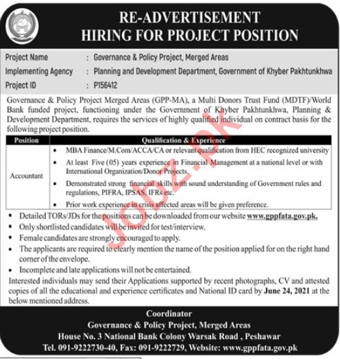 Governance & Policy Project GPP Merged Areas Jobs 2021
