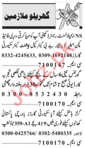 Domestic Staff Jobs 2021 in Peshawar