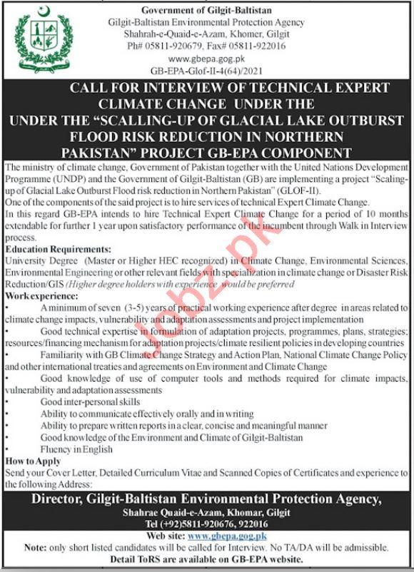 Environmental Protection Agency Gilgit Baltistan GPEPA Jobs