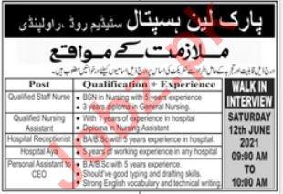 Park Lane Hospital Rawalpindi Jobs 2021 for Staff Nurse