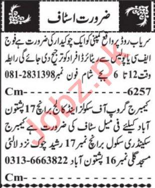 Assistant Supervisor & Chowkidar Jobs 2021 in Quetta