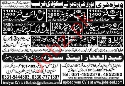 Work Permit Receiver & Rigger Jobs 2021 in Saudi Arabia