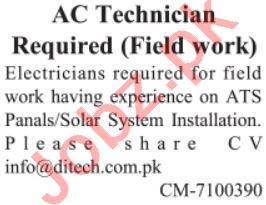 AC Technician & Auto Technician Jobs 2021 in Lahore