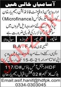 Human Development Foundation HDF Rahim Yar Khan Jobs 2021