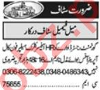 HR Officer & Receptionist Jobs 2021 in Lahore
