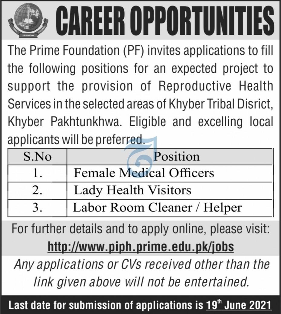 Prime Foundation PF Jobs 2021 in Peshawar