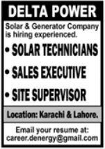 Solar and Generator Company Jobs 2021