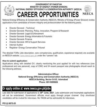 National Energy Efficiency & Conservation Authority Job 2021
