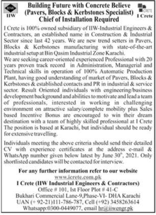 Industrial Engineers & Contractors Jobs 2021