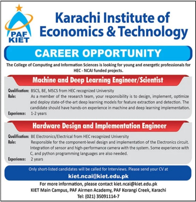 Karachi Institute of Economics & Technology Jobs 2021