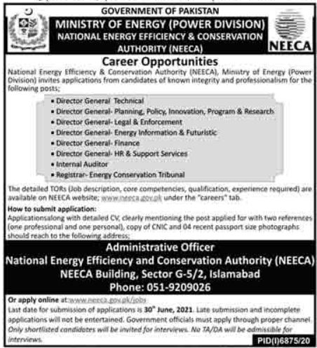 Ministry of Energy Management Jobs 2021