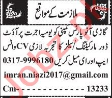 Jang Sunday Classified Ads 13 June 2021 for Sales Staff