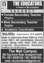 The Educators The Mall Campus Walk In Interviews 2021