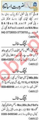 Nawaiwaqt Sunday Classified Ads 13 June 2021 for Teaching