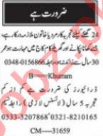 Nawaiwaqt Sunday Karachi Classified Ads 13 June 2021