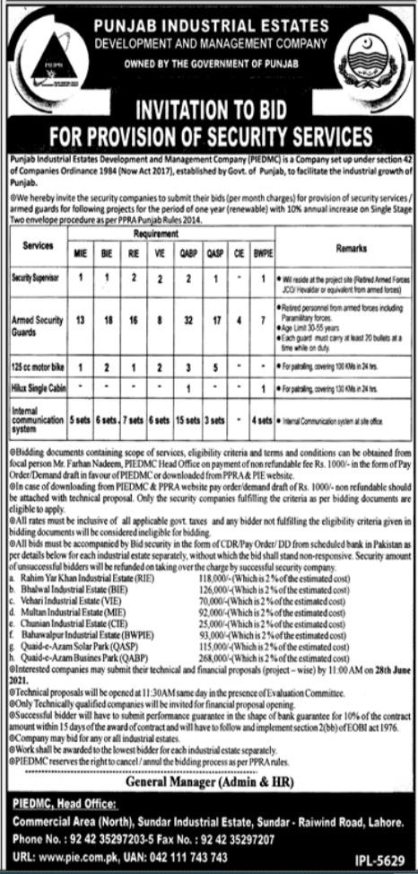 Punjab Industrial Estates PIEDMC Jobs 2021