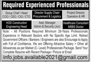 Project Director Operaion & HR Jobs 2021