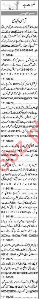 Express Sunday Karachi Classified Ads 13 June 2021