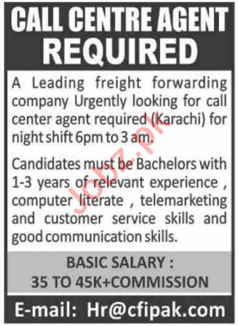 Combined Freight International CFI Pakistan Jobs 2021