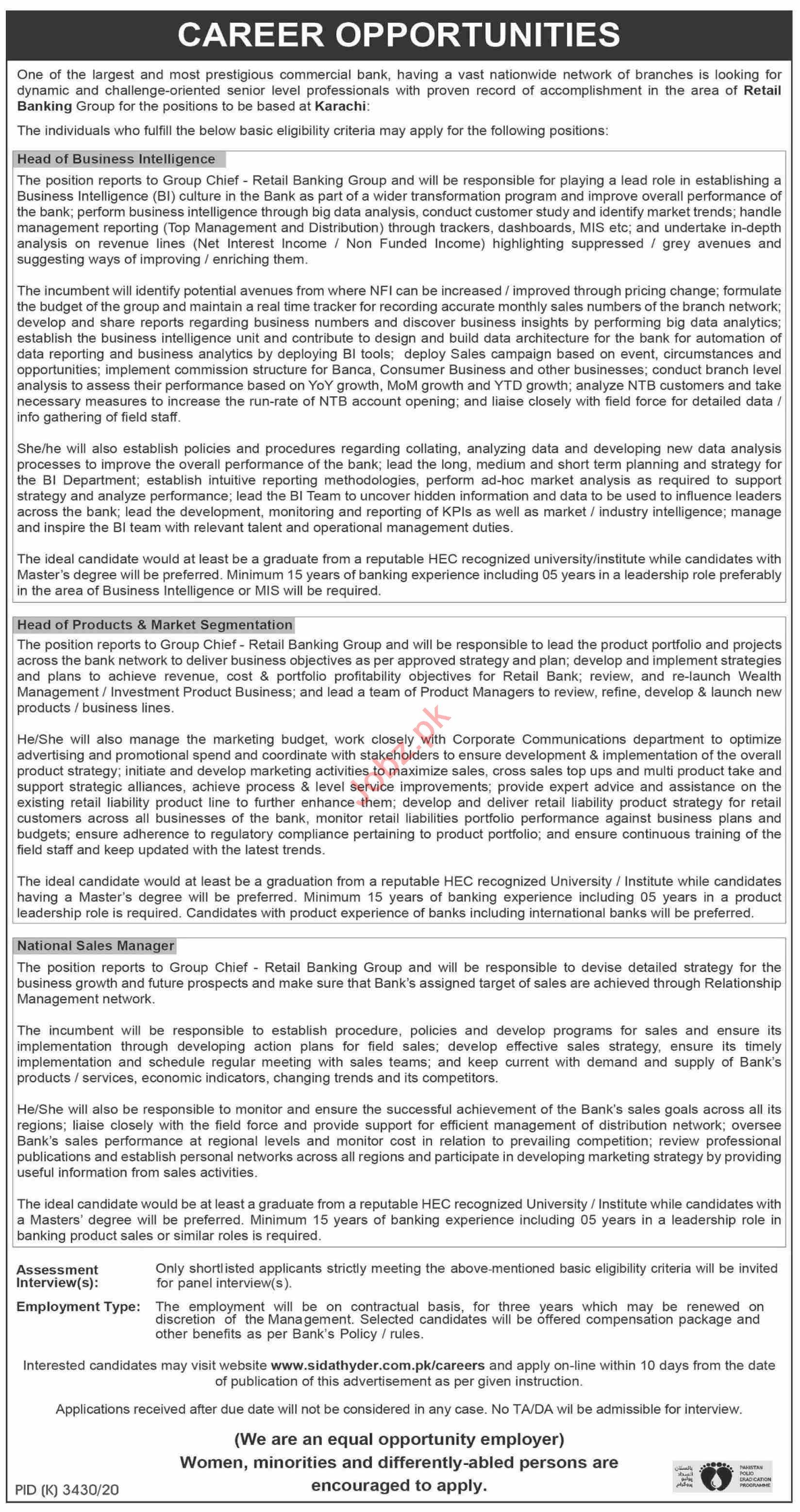 Head of Business Intelligence Jobs 2021 in Karachi