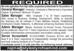 Style Styrofoamind Pvt Limited Jobs 2021 in Lahore