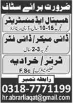 Hospital Administrator & Technical Staff Jobs 2021 in Lahore