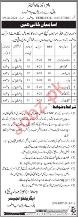 Provincial Highways Division Jamshoro Jobs 2021 Naib Qasid