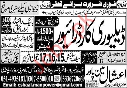 Delivery Car Driver & Car Driver Jobs 2021 in Qatar