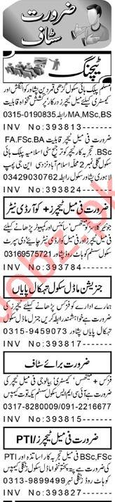 Subject Teacher & Teacher Jobs 2021 in Peshawar