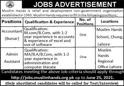 Non Government Organization NGO Jobs in Lahore